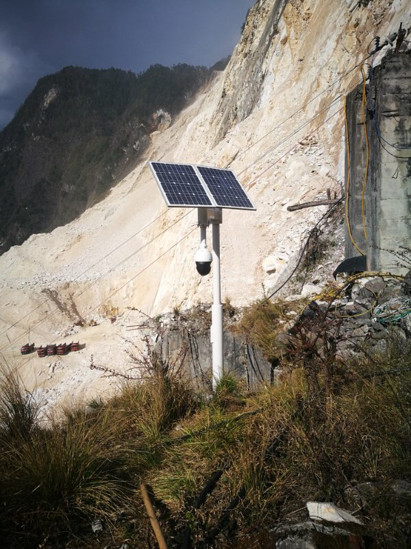 Wireless monitoring system of solar energy for mine