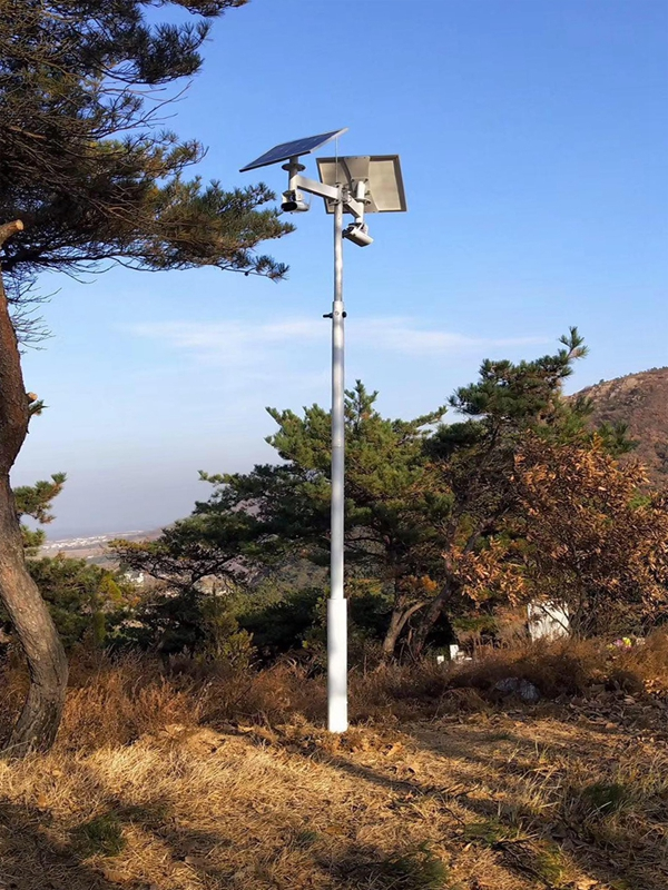 Solar wireless monitoring system for rural security in Ping'an