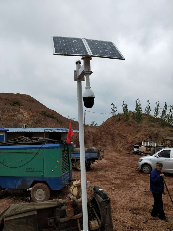 Solar wireless monitoring system for project site