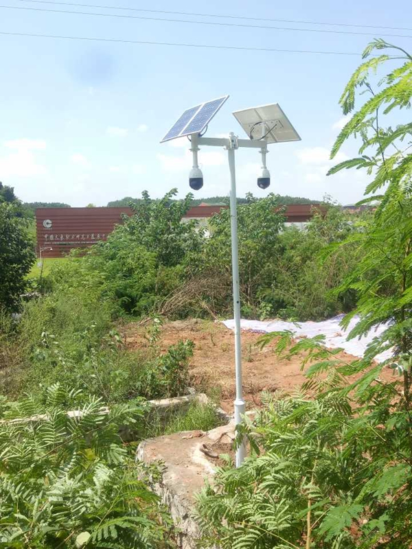 Solar wireless monitoring system for public security and joint defense in plant area
