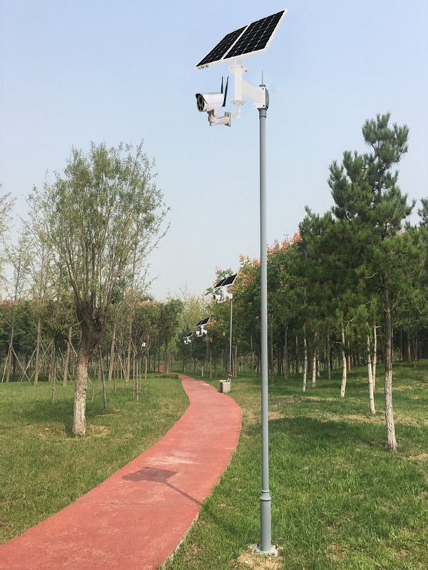 Solar wireless monitoring system for park scenic spot
