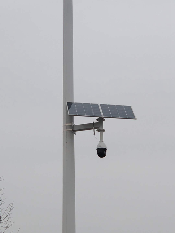 Wireless solar monitoring system for safe city