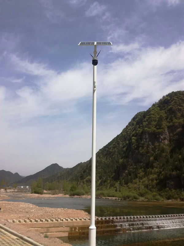 Solar energy wireless monitoring system for drinking water source